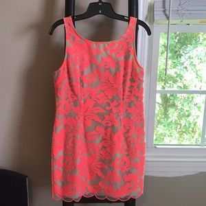 Collective Concepts coral neon dress